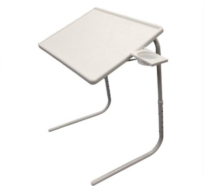 Table Mate White Adjustable Folding Laptop Plastic Study Table(Finish Color - White)