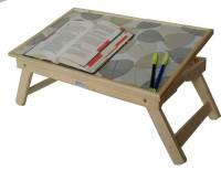 Ekta Product EktaSmallBeige Engineered Wood Portable Laptop Table(Finish Color - Light Oak)