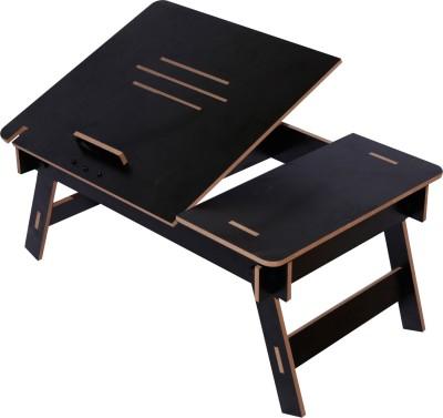 Hubberholme Engineered Wood Portable Laptop Table(Finish Color - Black)