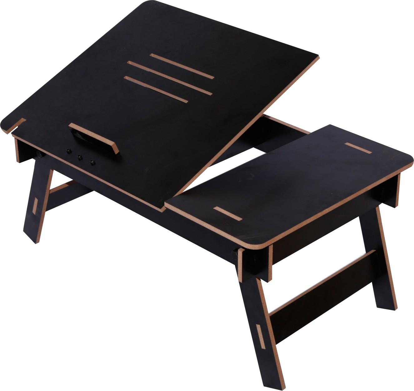 View Hubberholme Engineered Wood Portable Laptop Table(Finish Color - Black) Furniture (Hubberholme)