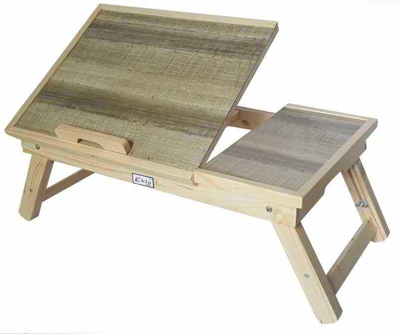 View Ekta Product Solid Wood Portable Laptop Table(Finish Color - Tan) Furniture (Ekta Product)