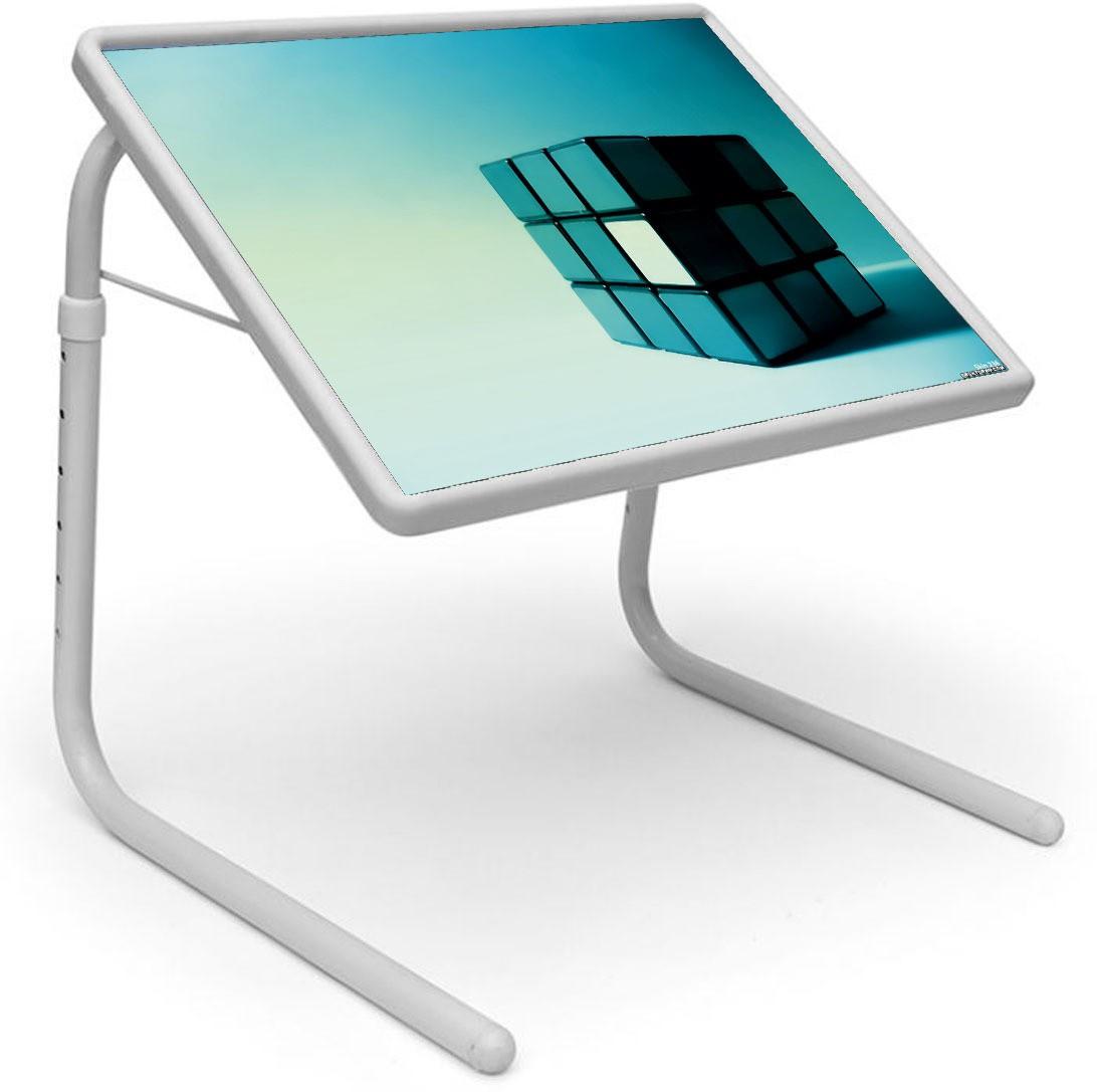View Shopper 52 Plastic Portable Laptop Table(Finish Color - Blue) Furniture (Shopper52)