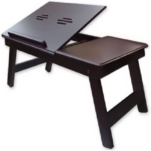 View Simran Handicrafts Solid Wood Portable Laptop Table(Finish Color - WALNUT BROWN) Furniture (Simran Handicrafts)