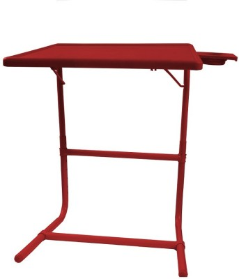 TABLE MATE Red Platinum Tablemate With Double Foot Rest Adjustable Folding Study Cupholder Kids Reading Breakfast Plastic Portable Laptop Table