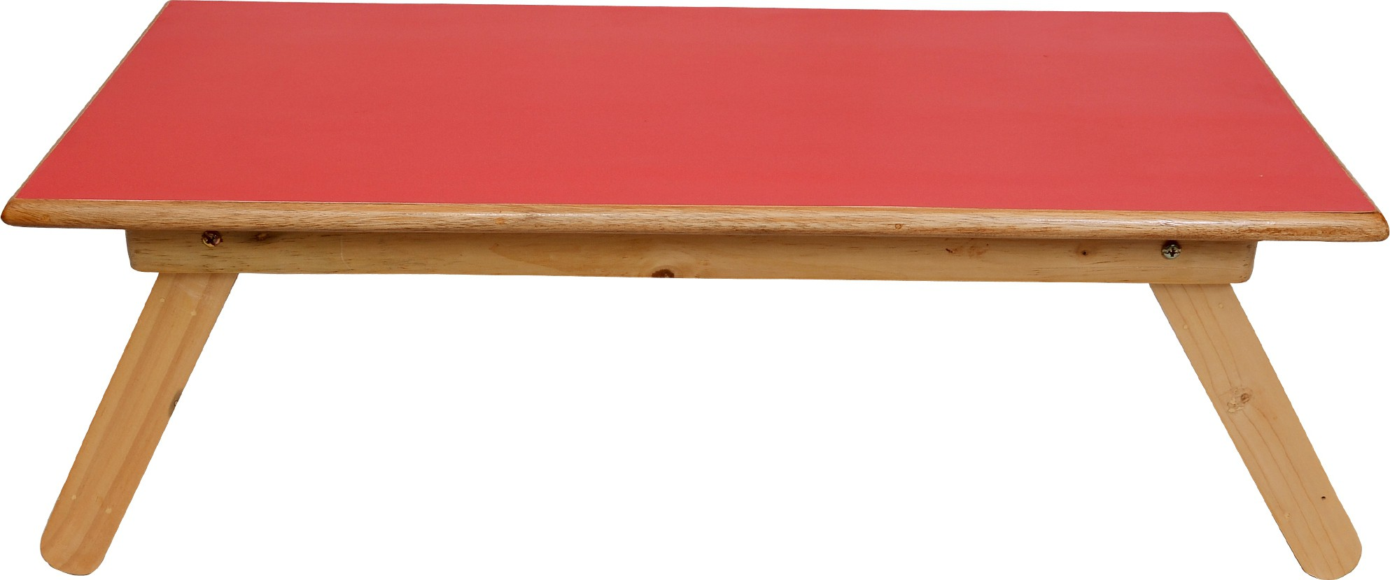 View Wood O Plast Engineered Wood Portable Laptop Table(Finish Color - Red) Furniture