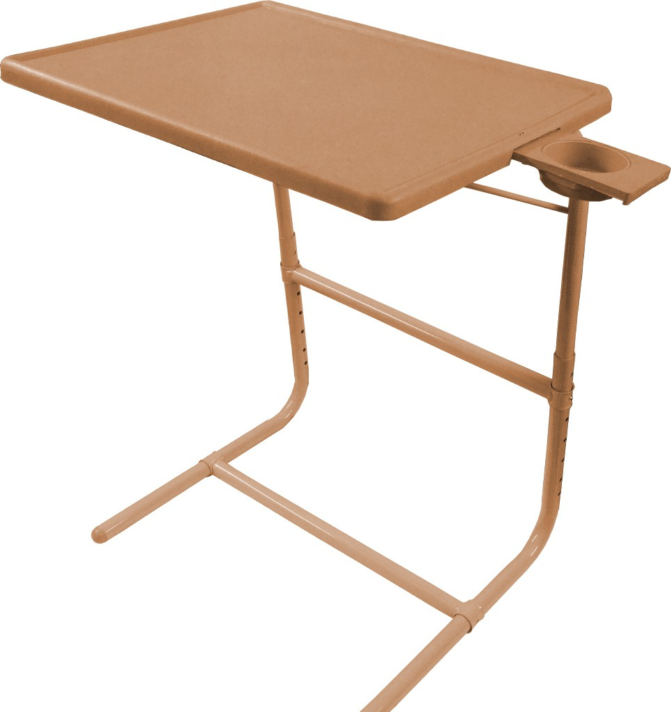 View Table Mate Beige Platinum Tablemate With Double Foot Rest Adjustable Folding Study Cupholder Kids Reading Breakfast Plastic Portable Laptop Table(Finish Color - Beige) Furniture (Tablemate)