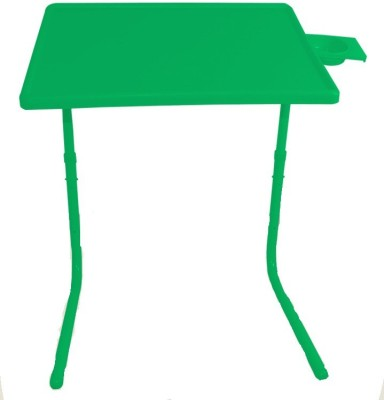 Table Mate Green Folding Adjustable Laptop Plastic Study Table(Finish Color - Green)