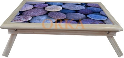 ORKA Printed Folding 3 Solid Wood Portable Laptop Table
