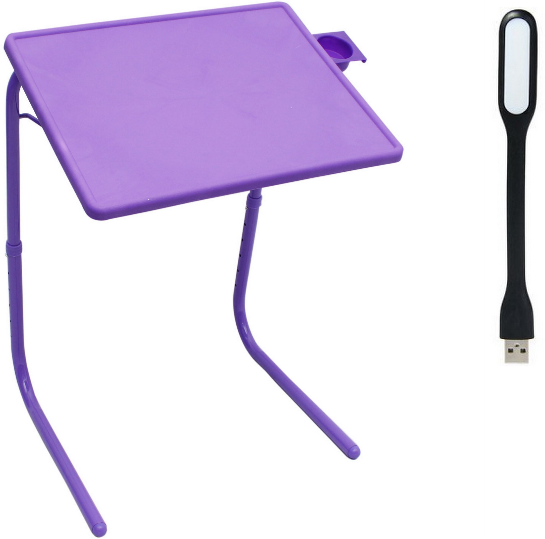 View RVOLD Purple Plastic Portable Laptop Table(Finish Color - Purple) Furniture (RVOLD)