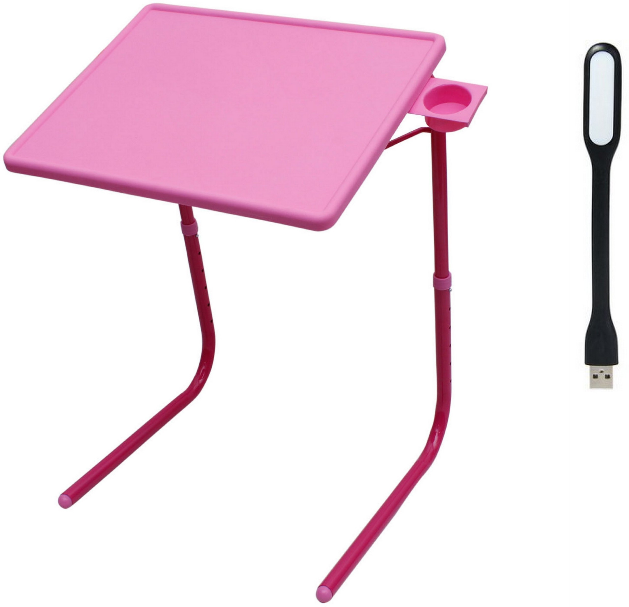 View NA Pink Plastic Portable Laptop Table(Finish Color - Pink) Furniture (NA)