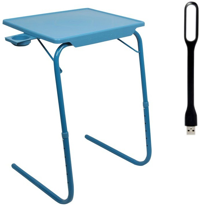 View NA Blue Plastic Portable Laptop Table(Finish Color - Blue) Furniture (NA)