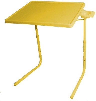 TABLE MATE ADJUSTABLE FOLDING KIDS MATE HOME OFFICE READING WRITING STUDY YELLOW TABLEMATE WITH CUPHOLDER Plastic Portable Laptop Table