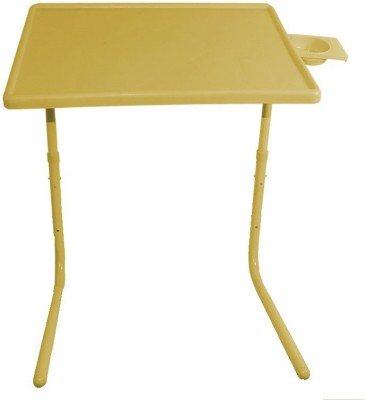 Table Mate Yellow Ajustable Folding Laptop Portable Tablemate Plastic Study Table(Finish Color - Yellow)