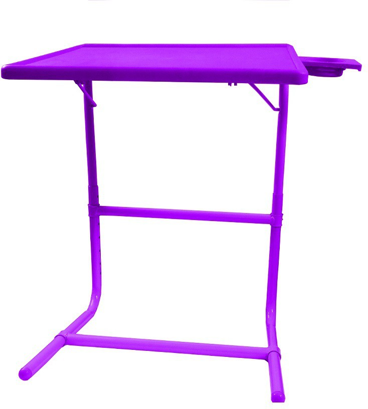 View Table Mate Purple Platinum Tablemate With Double Foot Rest Adjustable Folding Study Cupholder Kids Reading Breakfast Plastic Portable Laptop Table(Finish Color - Purple) Furniture (Tablemate)