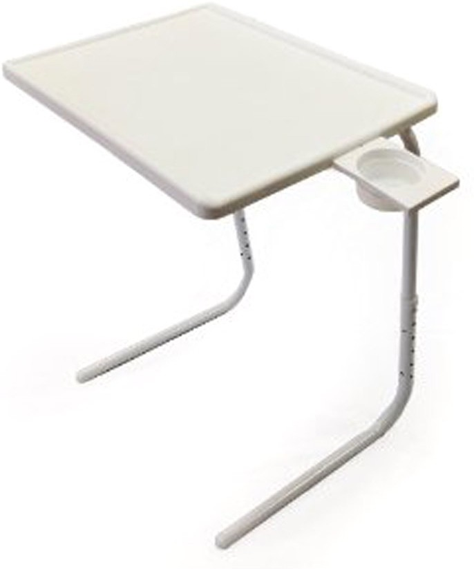 View Tablemate ADJUSTABLE FOLDING KIDS MATE HOME OFFICE READING WRITING WHITE TABLEMATE CUPHOLDER Plastic Portable Laptop Table(Finish Color - White) Price Online(Tablemate)