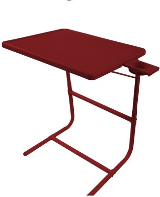 TABLE MATE Brown Platinum Tablemate With Double Foot Rest Adjustable Folding Study Cupholder Kids Reading Breakfast Plastic Portable Laptop Table