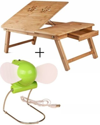 IBS Mate adjustable Tablemate Study Working Laptop Computer Wooden Designer Coloured with usb Cooling Pad fan Engineered Wood Portable Laptop Table