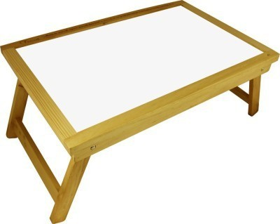 Chrome Solid Wood Portable Laptop Table