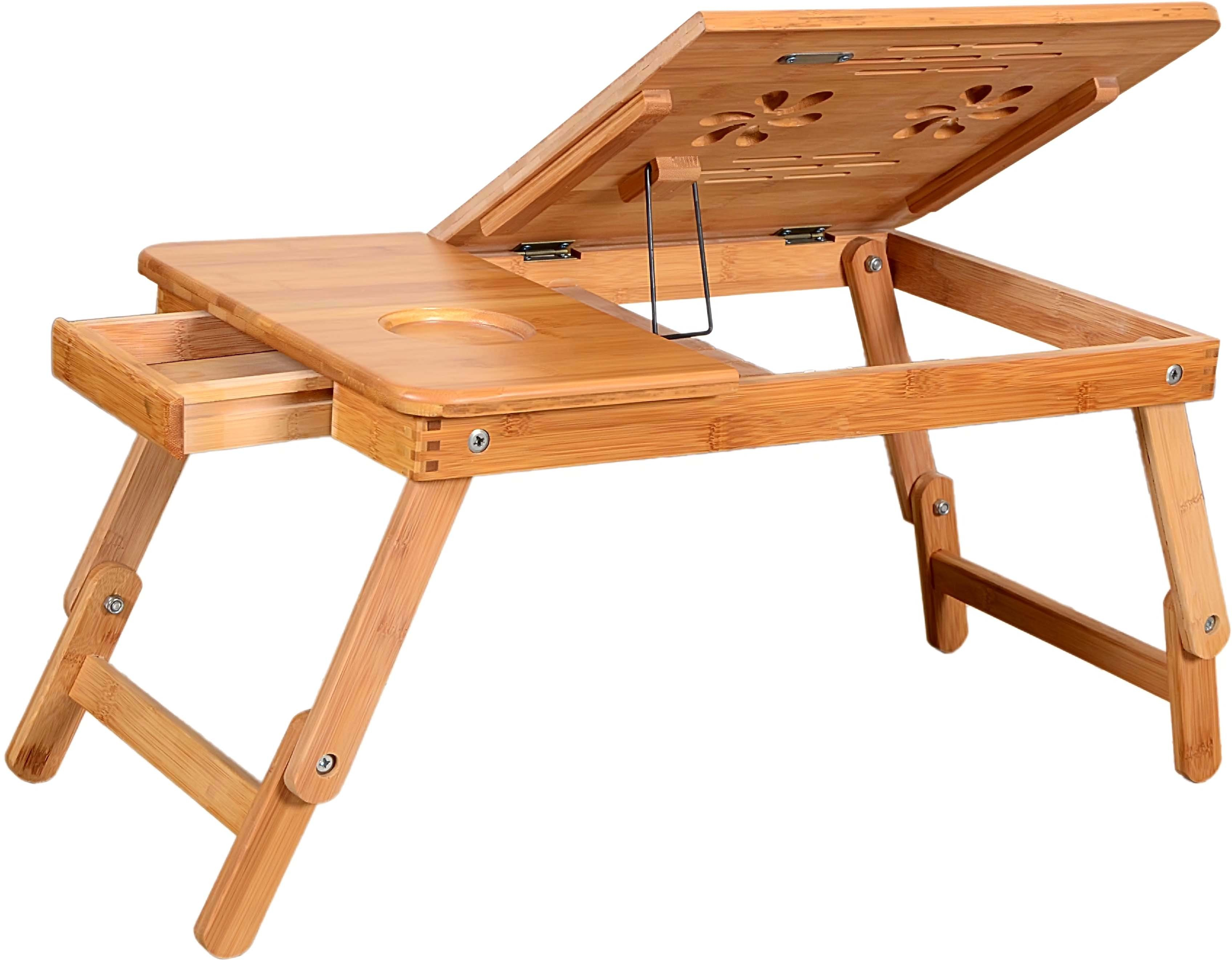 View Furniture House Solid Wood Portable Laptop Table(Finish Color - NATURAL WOOD) Furniture (Furniture House)