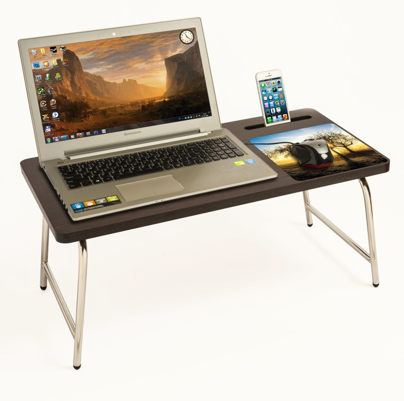 Bluewud Riodesk Ace Engineered Wood Portable Laptop Table(Finish Color - Wenge)
