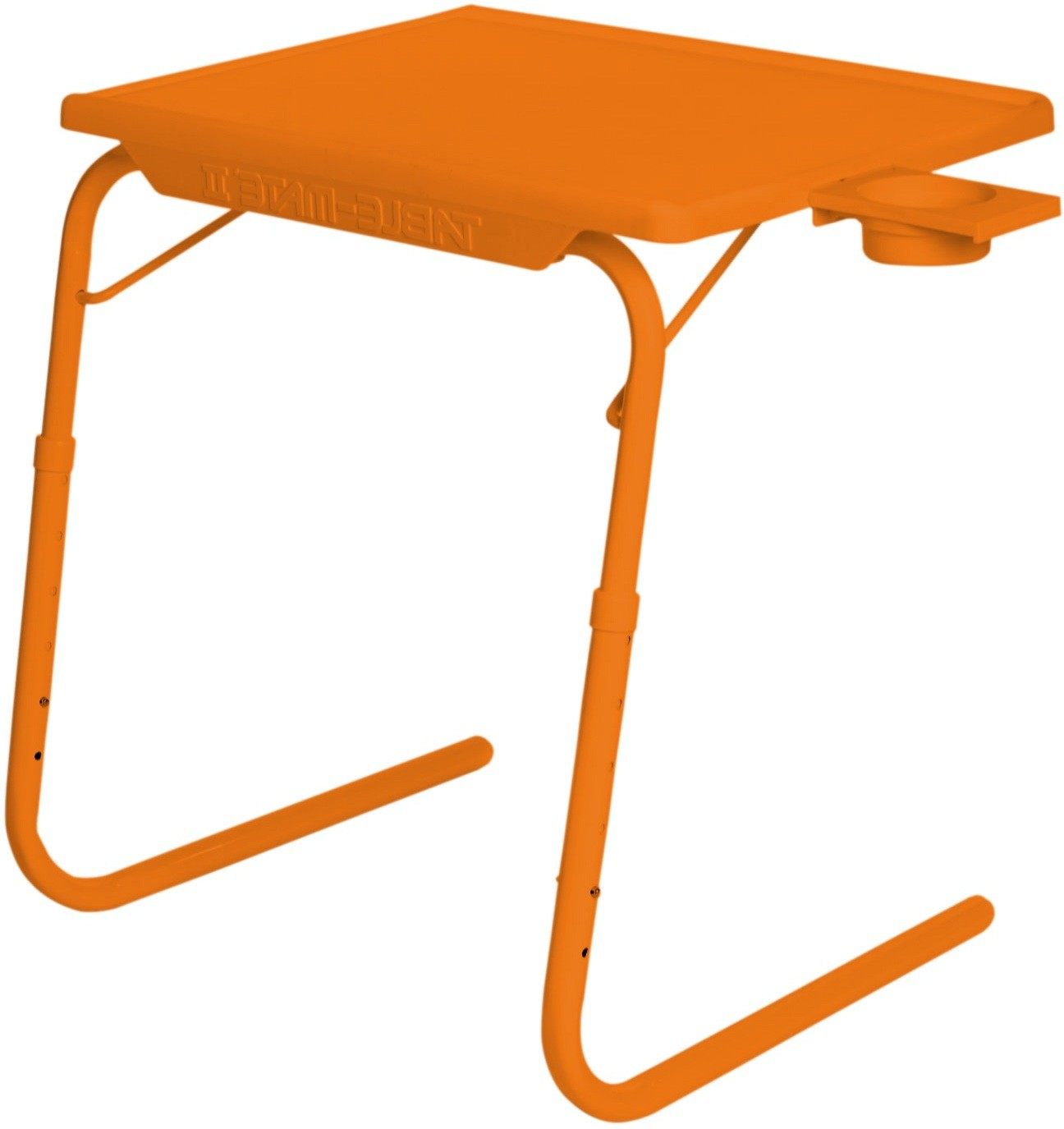 View IBS ADJUSTABLE FOLDING KIDS MATE HOME OFFICE READING WRITING STUDY ORANGE TABLEMATE WITH CUPHOLDER Plastic Portable Laptop Table(Finish Color - Orange) Furniture (IBS)