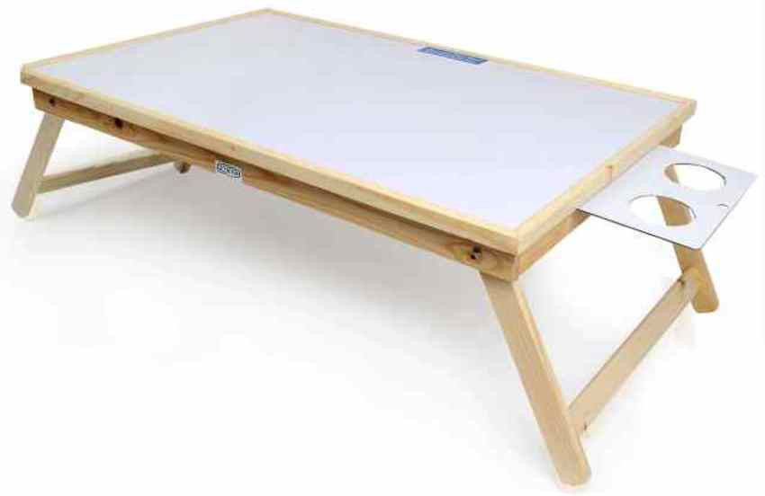 View Ekta Product Solid Wood Portable Laptop Table(Finish Color - White) Furniture (Ekta Product)