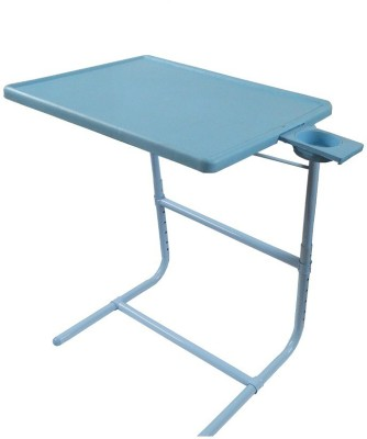 TABLE MATE Blue Platinum Tablemate With Double Foot Rest Adjustable Folding Study Cupholder Kids Reading Breakfast Plastic Portable Laptop Table