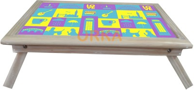 ORKA DDLJ YRF Solid Wood Portable Laptop Table(Finish Color - MultiColor)