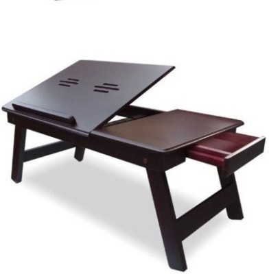 View Victor Solid Wood Portable Laptop Table(Finish Color - walnut brown) Furniture (Victor)