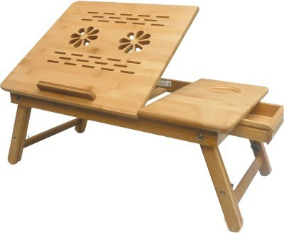 View SK Engineered Wood Portable Laptop Table(Finish Color - Brown) Furniture (SK)