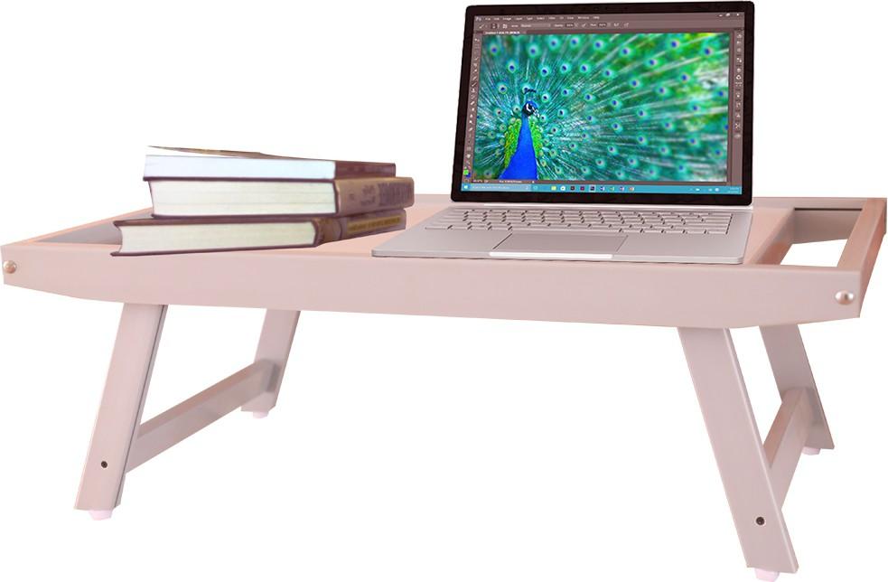 View Zen Plastic Portable Laptop Table(Finish Color - Silver Grey) Furniture (Zen)