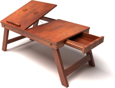 Home Sparkle Solid Wood Portable Laptop Table