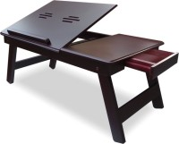 Onlineshoppee CAC Engineered Wood Portable Laptop Table(Finish Color - Brown)