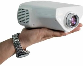 Voltegic ® E03 Digital Video Proyector Home Cinema Theater 50 lm LED Corded Portable Projector(White)