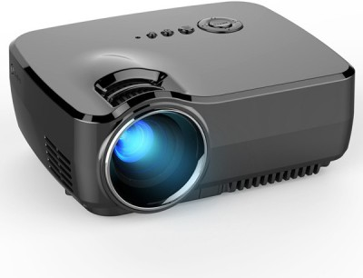 MDI HD Mini 1080 P w / HDMI VGA AV USB 800 lm LED Corded Portable Projector(Black)