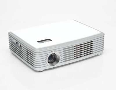 PLAY PP006 6000 lm DLP Corded Portable Projector(White) at flipkart