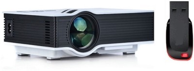 UNIC UNIC UC - 40 Portable LED Projector with Pendrive 800 lm LED Corded Portable Projector(White, Black)
