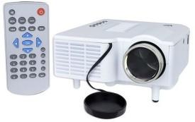 Shrih Mini Multimedia 48 lm LED Corded & Cordless Portable Projector(White)