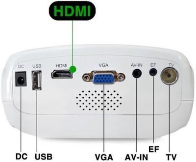 Voltegic Mini E03 TV Home Theater Multimedia Beamer Cinema 50 lm LED Corded Portable Projector(White)