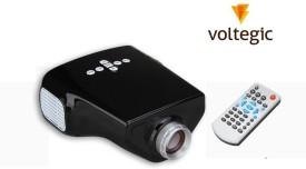 Voltegic ™ Proyector MINI E03 Home Education USB/VGA/AV/TV/HDMI 50 lm LED Corded Portable Projector(Black)