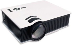 Shrih 800 lm LED Corded & Cordless Portable Projector