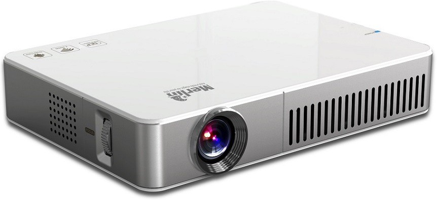 Merlin 3D Projector Android 500 lm DLP Corded & Cordless Mobiles Portable Projector(White)