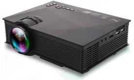 Wonder World ™ UC-46 Mini Video LED HDMI Home Theater LCD TV Multimedia USB VGA 1200 lm LED Corded Mobiles Portable Projector(Black)
