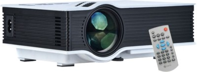 Shrih Mini Home Multimedia 800 lm LED Corded Portable Projector(White) at flipkart