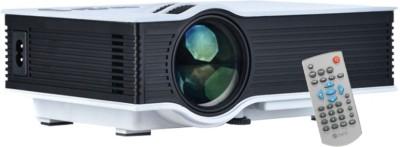 Shrih SH-5019 Mini Home Multimedia 800 lm LED Corded Portable Projector(White)