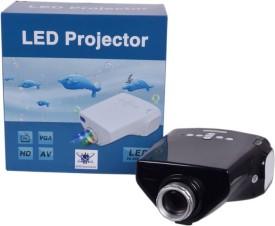 Wonder World ™ Original Mini E03 LED 50 lm LED Corded Portable Projector(Black)