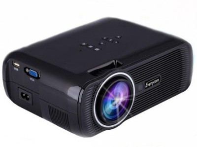 Everycom 1800 lm LED Corded Portable Projector