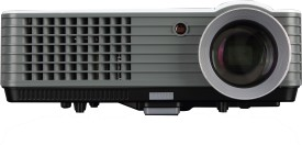 WOXAN WX-03A 2000 lm LCD Corded Portable Projector(Grey)
