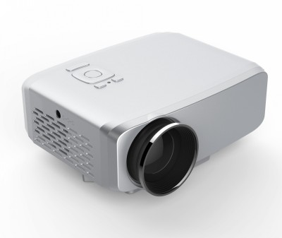 Optama 800 lm LED Corded Portable Projector(Silver)