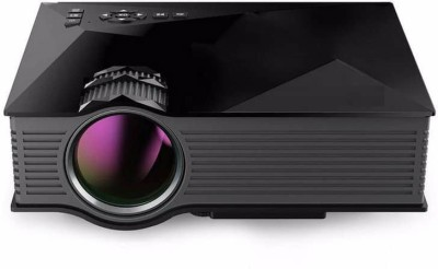 VibeX Wireless WIFI UC-46 Mini Multimedia Video Home Cinema LED 1200 lm LED Corded Portable Projector(Black)
